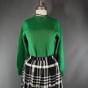 Vintage Kelly green wool sweater